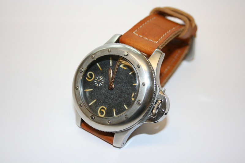 vintage EGI Angelus 240 cal homage watch